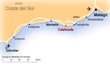 Google Map Of Southern Spain.Bonito Sol